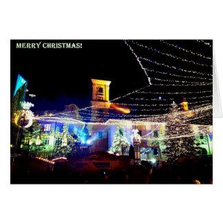 Cartão do preto do mercado do Natal