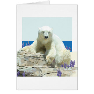 Cartão do primavera de urso polar