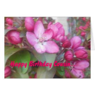 Cartão do primo do feliz aniversario