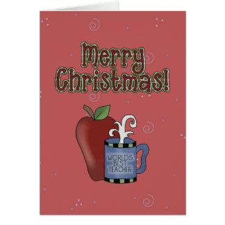 Cartão do professor da coleção do Natal o melhor
