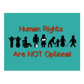 Cartão do protesto da inabilidade da igualdade dos