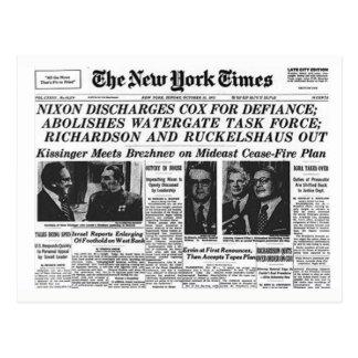 Cartão do protesto de Nixon/trunfo