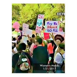 Cartão do protesto do março das mulheres