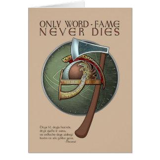 Cartão do provérbio de Viking