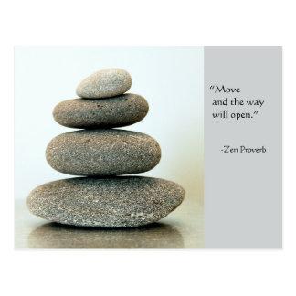 Cartão do provérbio do zen