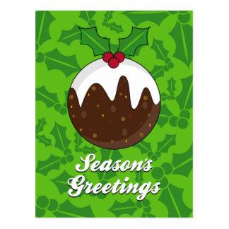 Cartão do pudim do Natal