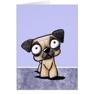 Cartão do Pug de Scaredy