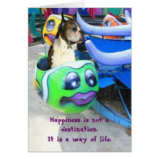 Cartão do pugilista da felicidade
