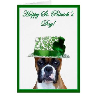 Cartão do pugilista do dia de St Patrick feliz