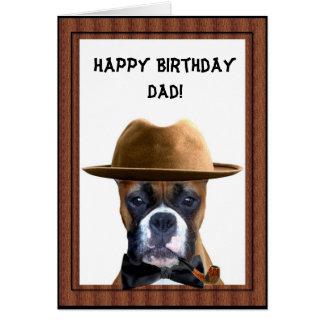 Cartão do pugilista do pai do feliz aniversario