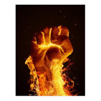 Cartão do punho do fogo