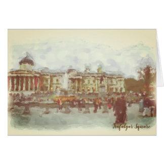 Cartão do quadrado de Trafalgar