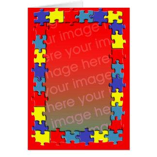 Cartão do quadro da foto do quebra-cabeça do