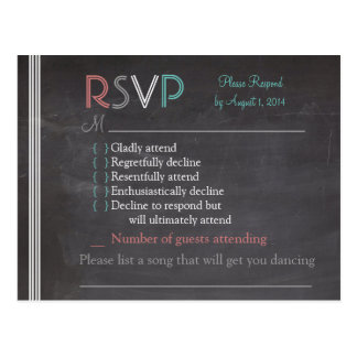 Cartão do quadro RSVP Cartão Postal
