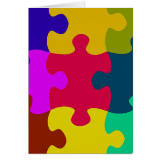 Cartão do quebra-cabeça