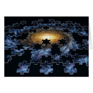 Cartão do quebra-cabeça da galáxia