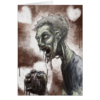 Cartão do querido do zombi