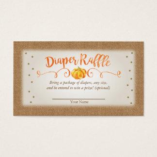 Cartão do Raffle da fralda do chá de fraldas da