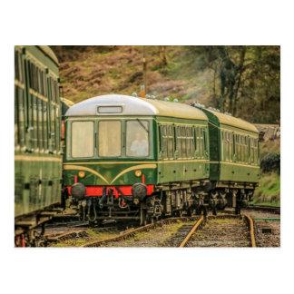 Cartão do Railcar da locomotiva diesel