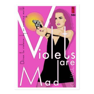 Cartão do rascunho: As violetas são loucas