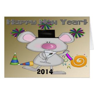 Cartão do rato de ano novo