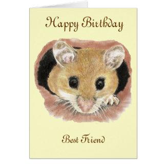 Cartão do rato do aniversário do melhor amigo