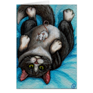 Cartão do rato do gato do smoking da RUB da