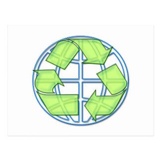 Cartão do reciclar