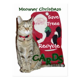 Cartão do reciclar do Natal de Meowwy
