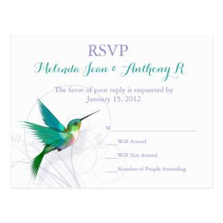 Cartão do redemoinho RSVP do colibri