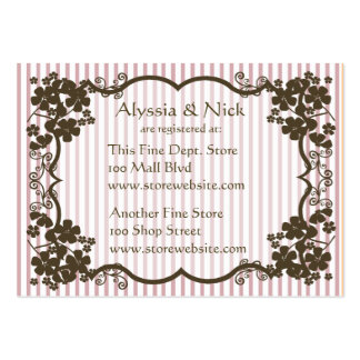 Cartão do registro do chá de panela cartoes de visita