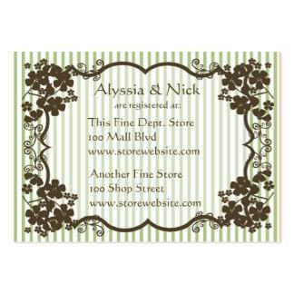 Cartão do registro do chá de panela modelo cartões de visitas