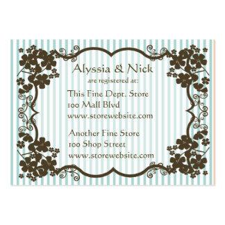 Cartão do registro do chá de panela cartão de visita grande