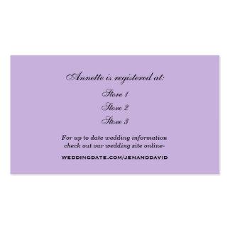 Cartão do registro do chá de panela da lavanda cartão de visita