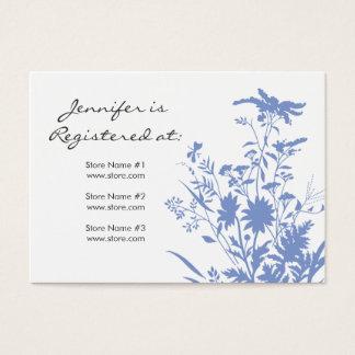 Cartão do registro do Wildflower