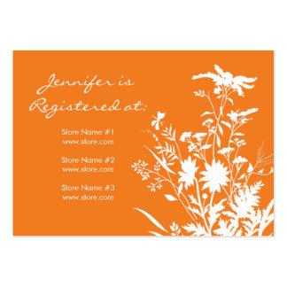 Cartão do registro do Wildflower Cartão De Visita