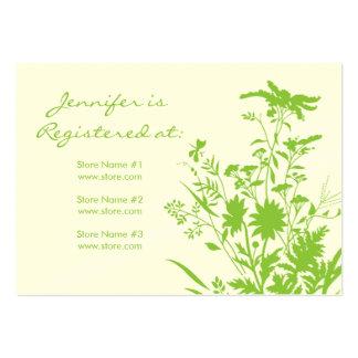 Cartão do registro do Wildflower Cartoes De Visitas