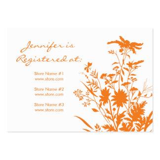 Cartão do registro do Wildflower Cartões De Visita
