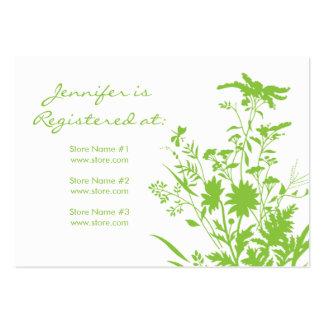 Cartão do registro do Wildflower Modelo Cartoes De Visitas