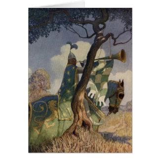 Cartão do rei Arthur Série 5 do vintage