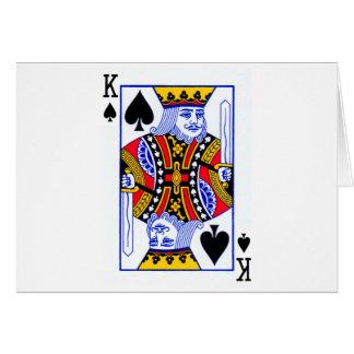 Cartão do rei jogo