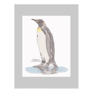 Cartão do rei pinguim