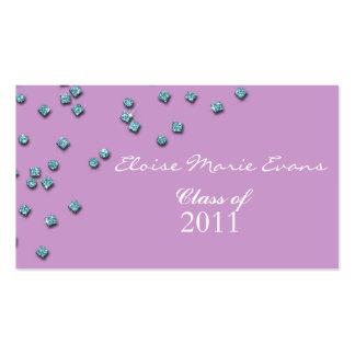 Cartão do representante da graduação do diamante cartão de visita