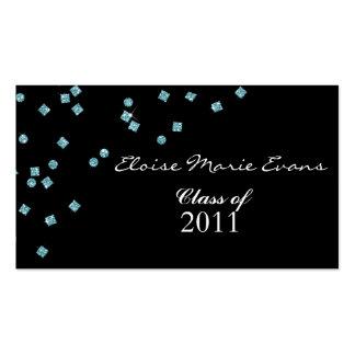 Cartão do representante da graduação do diamante cartoes de visitas