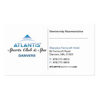 Cartão do representante do membro cartão de visita