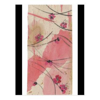 Cartão do respingo da flor da ameixa