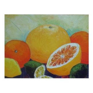 Cartão do respingo do citrino