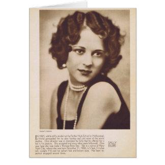 Cartão do retrato do vintage de Sally Eilers