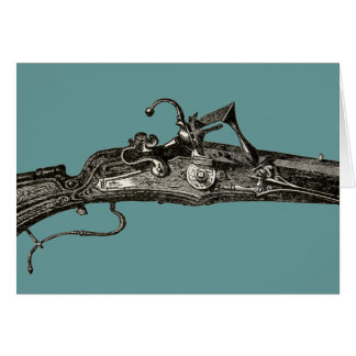 Cartão do rifle da arma do mosquete do Flintlock