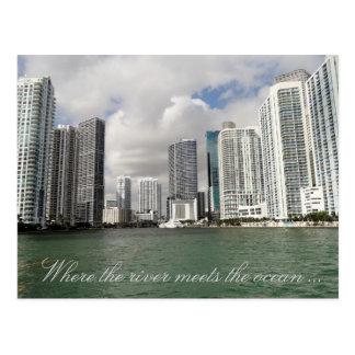 Cartão do rio de Miami